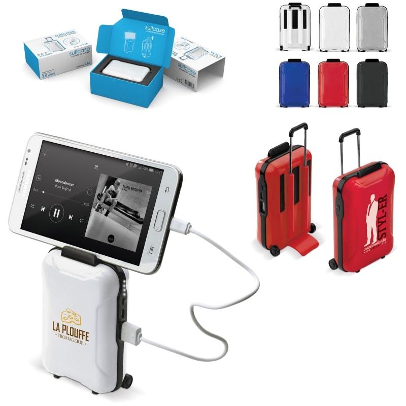 Image de 10 pcs. 10 pcs. Powerbank 3 en 1 valise personnalisé en 11 jrs. ouvrés personnalisé Sets batteries externes