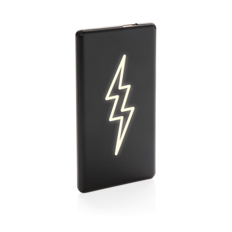 Image de 10 pcs. Batterie externe personnalisable Batterie externe Logo lumineux 4000 mAh
