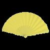 Éventail | Manche plastique | Voile polyester | 158096 jaune