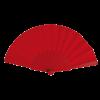 Éventail | Manche plastique | Voile polyester | 158096 rouge