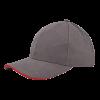 Casquette | Haute qualité | Brodée | 201926B gris / rouge