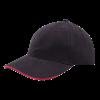 Casquette | Haute qualité | Brodée | 201926B noir / rouge