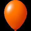 Ballon coloré | 33 cm | Petite quantité | 9485951s orange