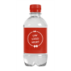 Bouteille d'eau | 330 ml | Eau Gazeuze | 433300pd rouge