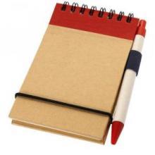 Bloc-notes   Recyclé   Avec stylo   92106269 Rouge