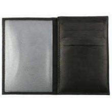 Porte-carte grise en cuir noir