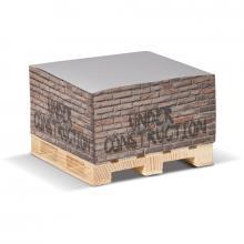 Cube | Papier blanc | Palette en bois