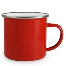 Mug émaillé | 300 ml | Grande surface d'impression | 4612302 Rouge