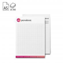 Bloc-notes | Format A5 | 25, 50 ou 100 feuilles