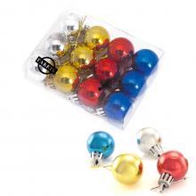 Ensemble de 12 mini boules de Noël | Impression sur boîte transparente