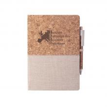 Carnet et stylo | Bouchon naturel/coton | Stylo | A5