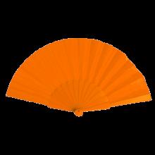 Éventail | Manche plastique | Voile polyester | 158096 Orange