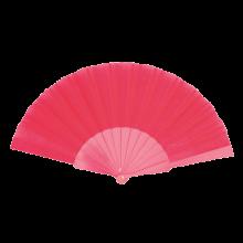 Éventail | Manche plastique | Voile polyester | 158096 Rose