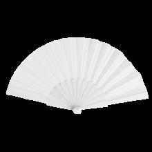 Éventail | Manche plastique | Voile polyester | 158096 Blanc