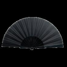 Éventail | Manche plastique | Voile polyester | 158096 Noir