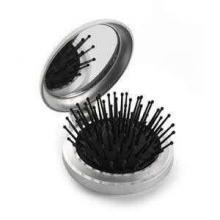Brosse à cheveux de poche avec miroir
