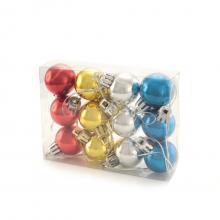 Ensemble de 12 mini boules de Noël   Impression sur boîte transparente   153360