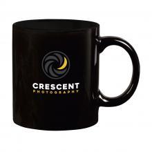 Mug coloré   Céramique   350 ml   733726 Noir-Noir