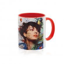 Mug quadrichromie | Intérieur coloré | 350 ml | maxp038