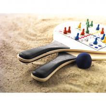 Raquettes de plage | Jeux de société | 3 en 1 | Personnalisé  | 8032582 Bois