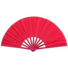 Éventail | Voile en tissu | Manche en plastique  Personnalisé |   | 154977 Rouge