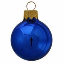 Boule de Noël colorée | Glossy | En quadrichromie | 66 mm | 121011 Bleu