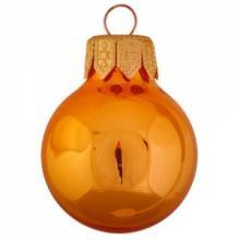 Boule de Noël colorée | Glossy | En quadrichromie | 66 mm | 121011 Orange