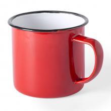 Mug émaillé   Aspect vintage   350 ml   155571 Rouge