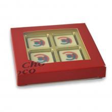 Chocolats avec logo | Boîte cadeau | 4 chocolats