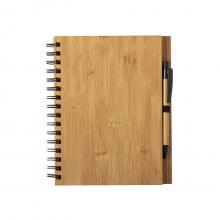 Carnet A5   Couverture rigide en bambou   Stylo inclus