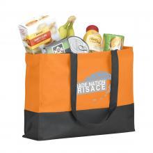 Sac à provisions robuste   Sangles longues   Non-tissé   38 x 9 x 29 cm   733179 Orange