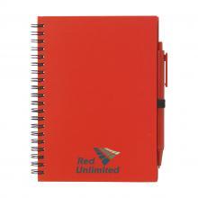 Carnet spirale   Format A5   70 pages   Avec stylo   733292 Rouge