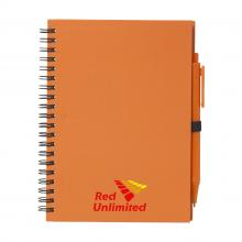Carnet spirale | Format A5 | 70 pages | Avec stylo | 733292 Orange