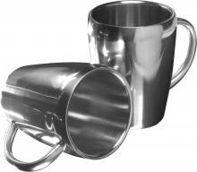 Set de 2 mugs en acier inoxyable | 0.20L