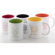 Mug céramique | Intérieur coloré | 300 ml | 83862009 Jaune
