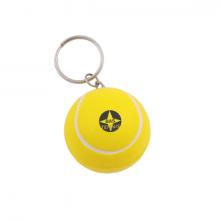 Porte-clé balle de tennis anti-stress