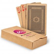 Cartes à jouer en papier recyclé   Boîte imprimée   Pleine couleur