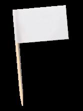 Piques à cocktail   Personnalisés   Quadrichromie   pas cher   941111 Blanc