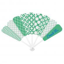 Éventail | Voile en papier | Manche en plastique | Impression Quadrichromie