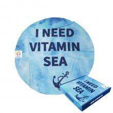 Serviette de bain ronde | Vitamin sea | 150 cm de diamètre | Boite cadeau & label en option