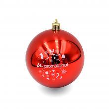 Boule de Noël colorée | Brillant | 80mm | 22001 Rouge