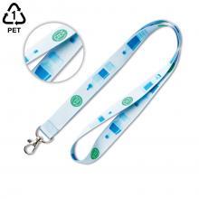 Lanière tour de cou | Plastique recyclé | Quadrichromie | 15,20 ou 25 mm
