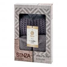 Ensemble cadeau SENZA | Gris | Bouillotte et chaussettes | Boîte de présentation