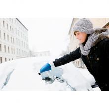Grattoir à glace | Avec gant en laine | Plastique