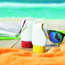 Crème solaire | Flacon personnalisé | Mousqueton | Indice 30 | 8798512