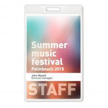Badge | Transparent | 7,5x12,5 cm