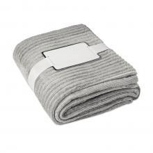Couverture en flanelle | Polyester | Avec ruban et carte imprimable
