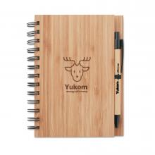 Carnet | A5 | Y compris le stylo | Couverture en bambou