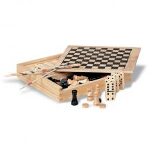 4 games in wooden box
