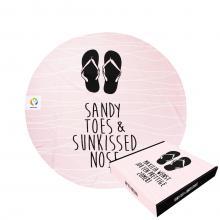 Sandy toes | 150 cm de diamètre | Boite cadeau & label en option